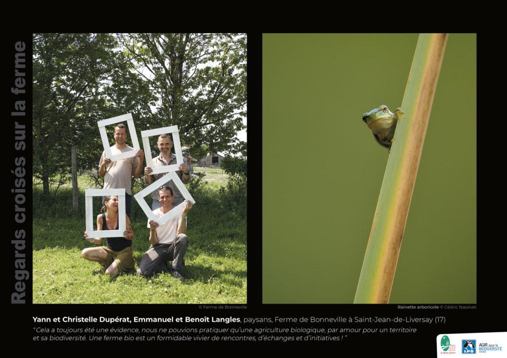 """Panneau de l'expo """"Regard croisés sur la ferme"""" Ferme de Bonneville (17) © LPO Vendée"""