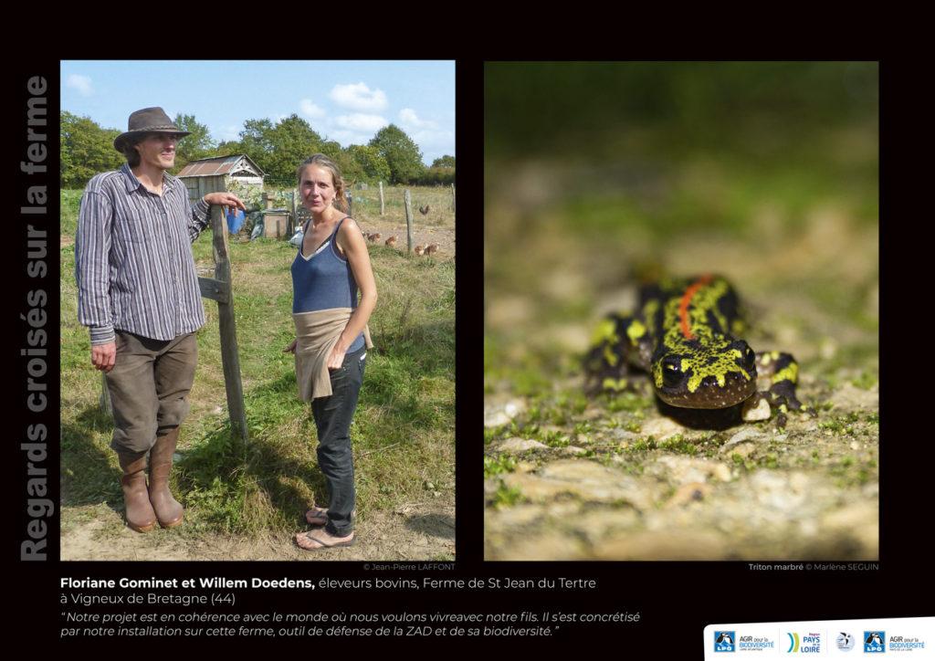 """Panneau de l'expo """"Regard croisés sur la ferme"""" Ferme de Saint Jean du Tertre (Vigneux-de-Bretagne - 44) © LPO Pays de la Loire"""