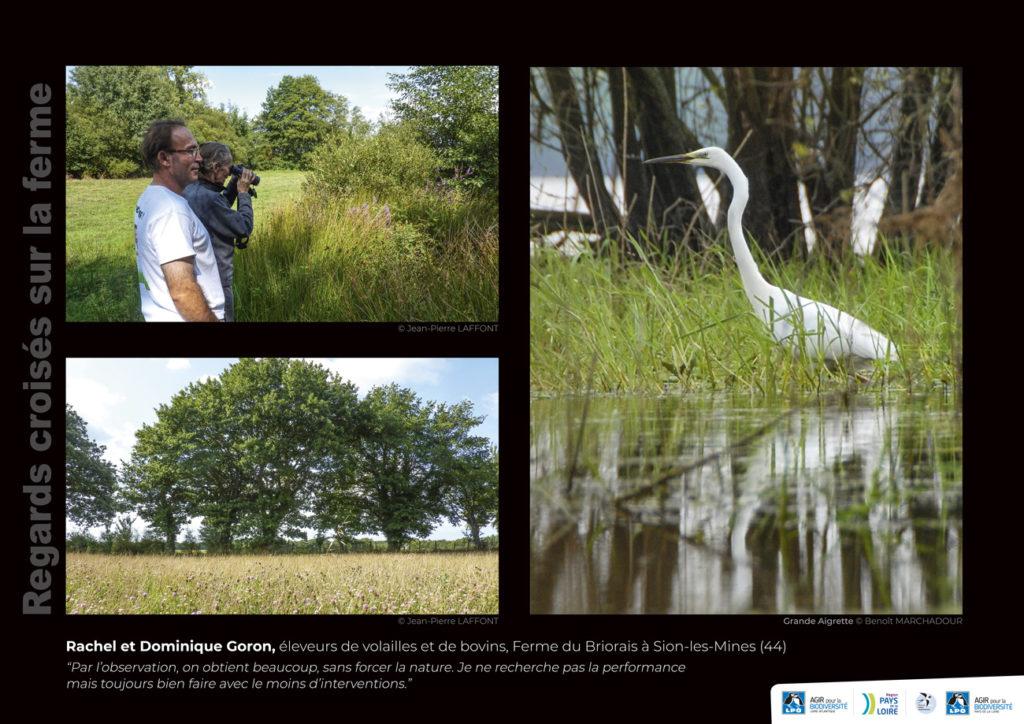 """Panneau de l'expo """"Regard croisés sur la ferme"""" Ferme du Briorais (Sion-les-Mines -44) © LPO Pays de la Loire"""
