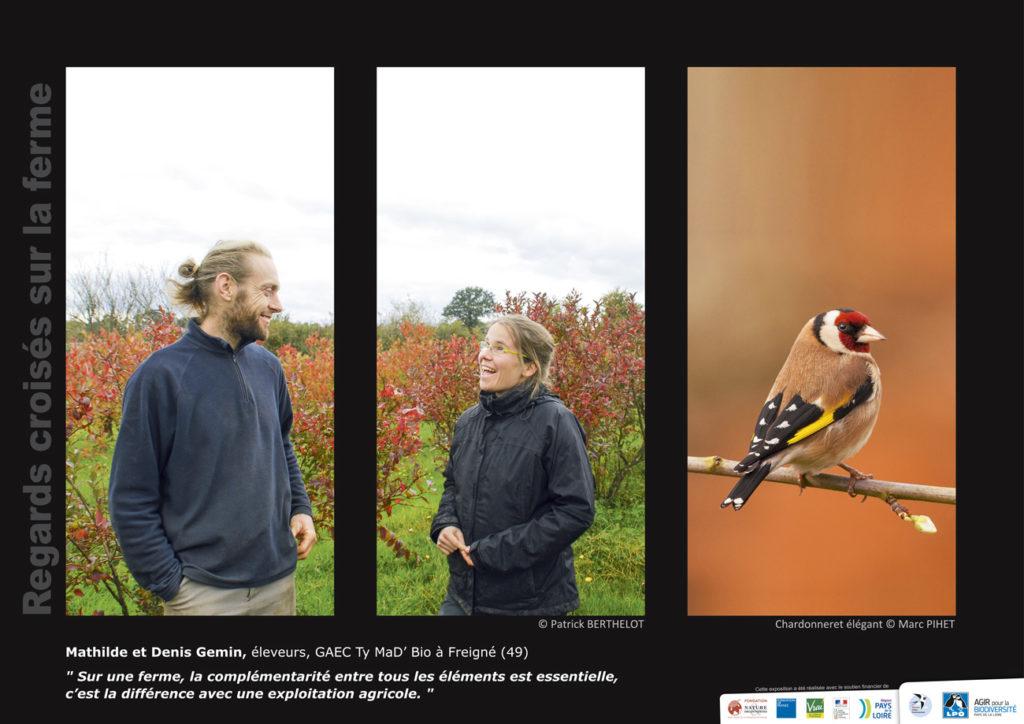"""Panneau de l'expo """"Regard croisés sur la ferme"""" GAEC Ty Mad'Bio (Freigné - 49) © LPO Pays de la Loire"""