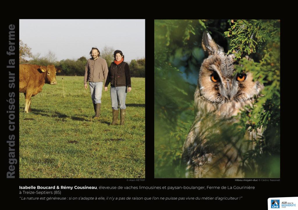 """Panneau de l'expo """"Regard croisés sur la ferme"""" Ferme de la Gournière (Treize-Septiers - 85) © LPO Vendée"""