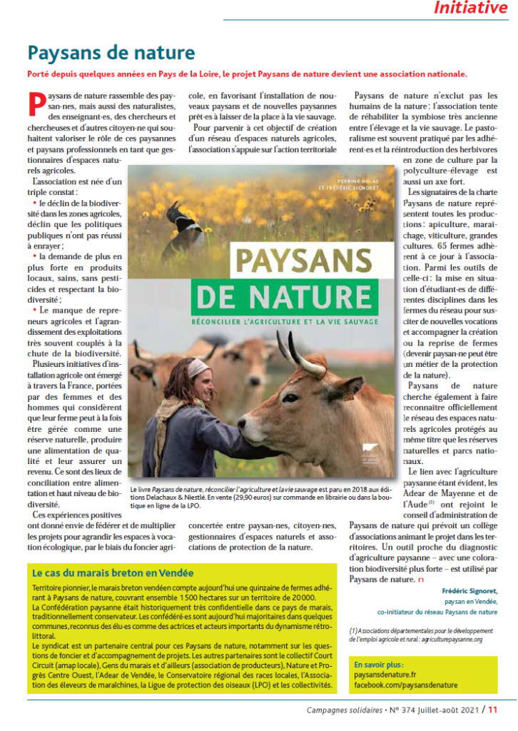 Article Campagnes Solidaires